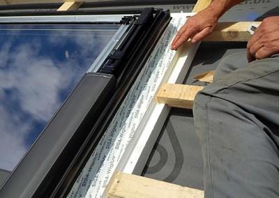 montaža strešnih oken