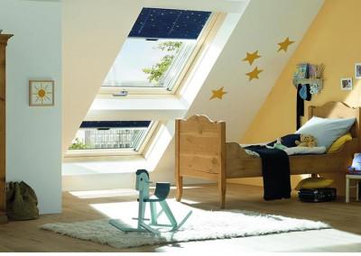 strešna okna v otroški sobi