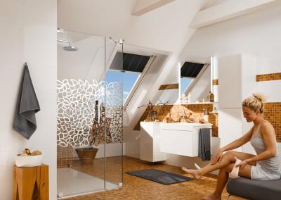 Strešno okno v kopalnici